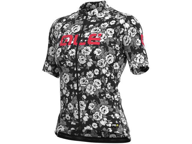 Alé Cycling Graphics PRR Roses Cykeltrøje Damer, black
